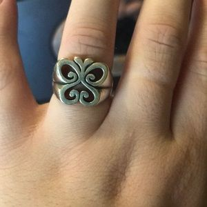 James Avery retired butterfly ring size 7